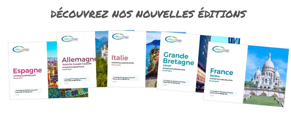 Découvrez nos nouvelles éditions | Voyage scolaire éducatif